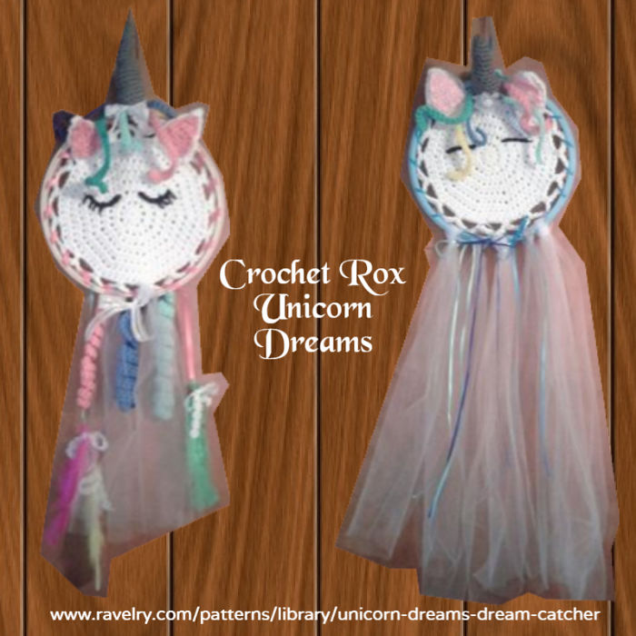 Have Sweet Magical Dreams With This Crocheted Unicorn Dream Catcher
