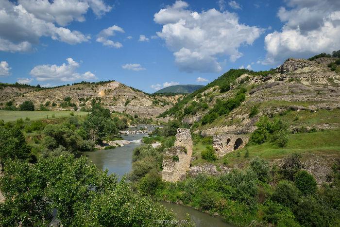 Pasha (Aliakmon) Bridge Ruins, Grevena. Built 1690