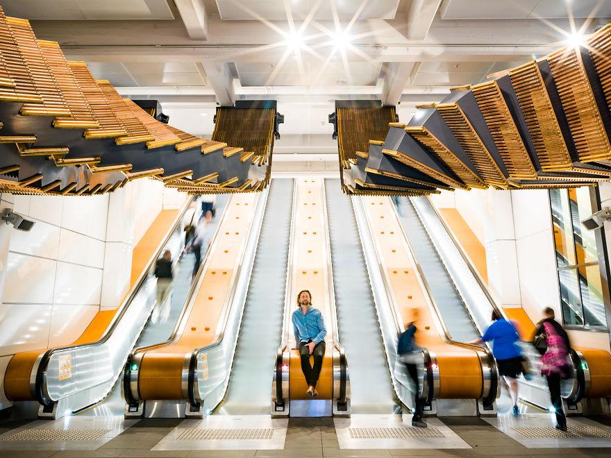 Artist Repurposes Historic Escalator To Create A Mind ...