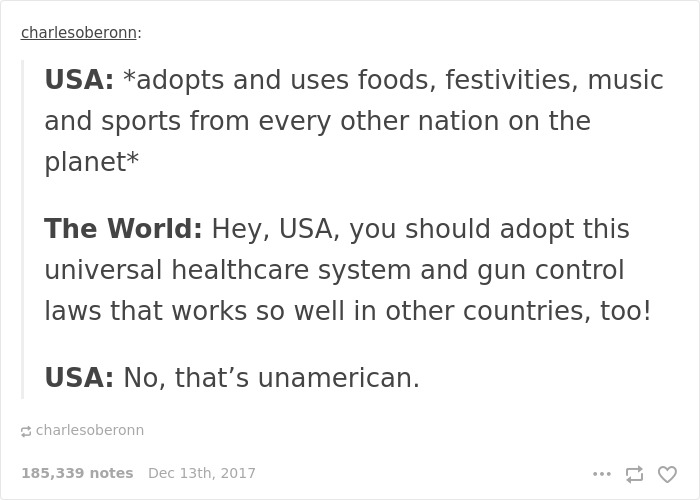 No, That's Unamerican