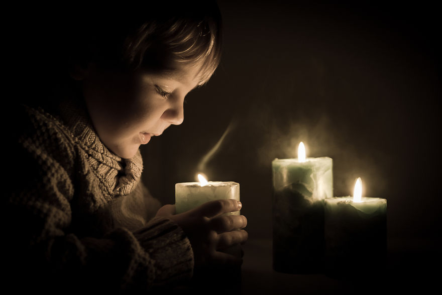 My Son Jaś And Candles