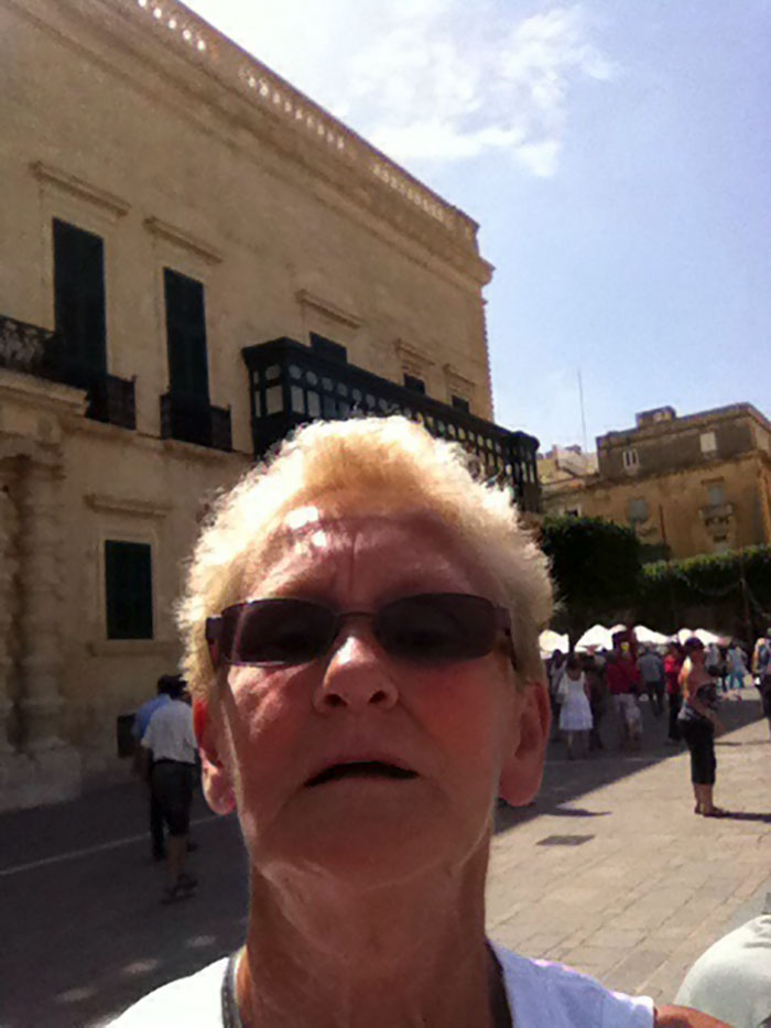 Asked A Lady To Take A Picture Of Me And My GF On Holiday... It Was Only After I Checked The Picture...