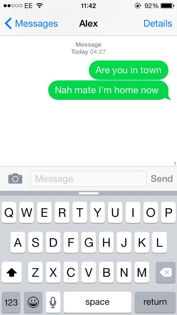 Last Night I Was So Drunk I Replied To My Own Text