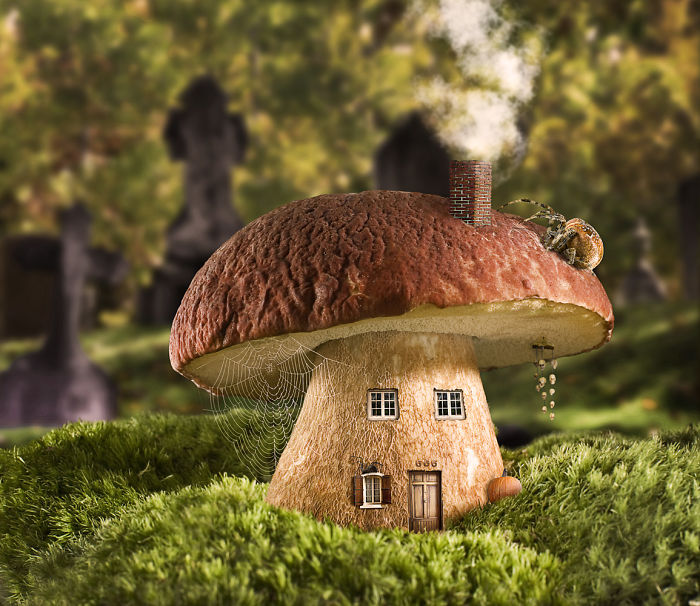 Artists Use Objects And Fruits To Build Houses In Photoshop And Many Of Them Give Even The Will To Live