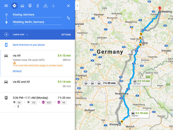 In Germany, You Can Get From Kissing To Wedding In About 5 Hours