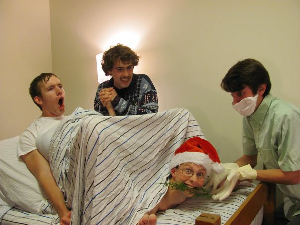 My Friend And His Roommates Took Their Christmas Card Photo