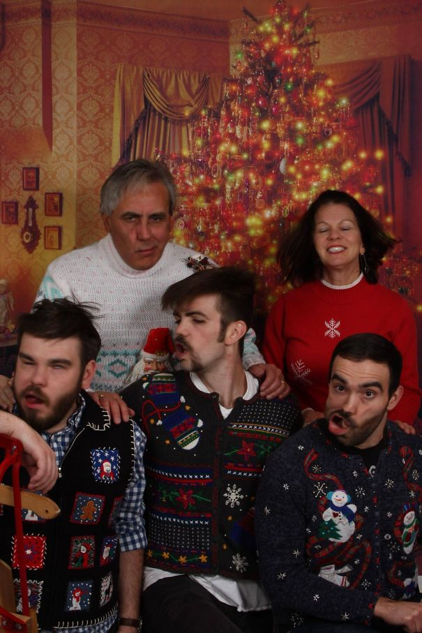 Convinced My Family To Go Out And Get Family Christmas Photos Done. This Is The Only Family Portrait That Exists Of My Family