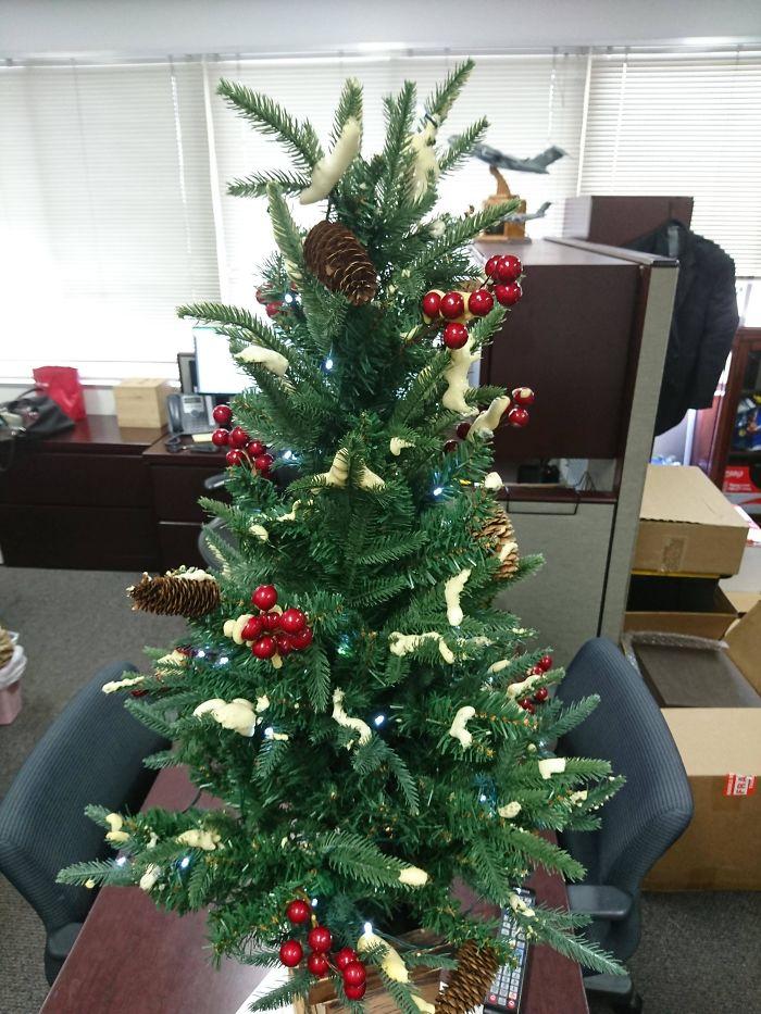 "The ""Snow"" On This Christmas Tree"