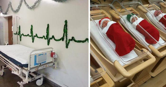 10 hospital christmas decorations that show medical staff are the most creative people ever