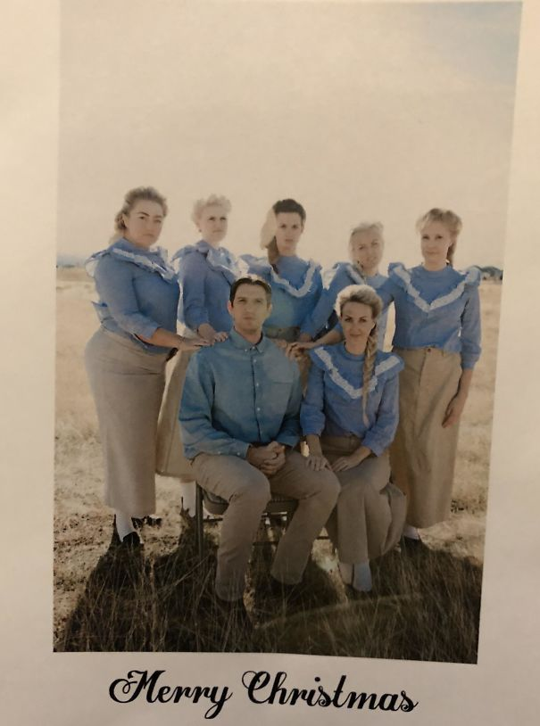 My Mormon Co-Worker Finds It Funny When People Ask If He Has Multiple Wives (He Doesn't). So For His Christmas Card, He Decided To Commit To The Bit To Freak People Out
