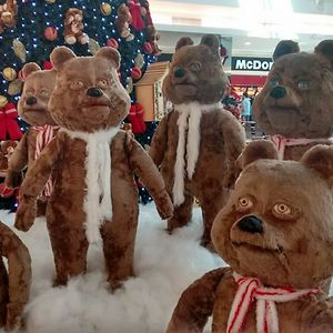 The Mall In My City Is Getting Ready For Christmas With Bears That Stare Into Your Soul