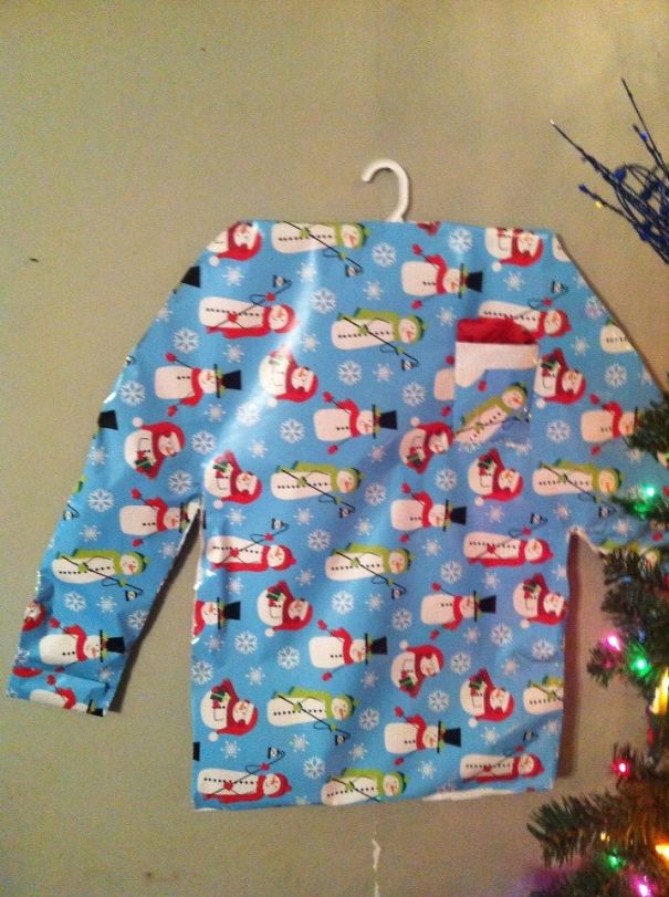 So My Friend Asked Her Husband To Wrap At Least One Shirt, This Is What She Got