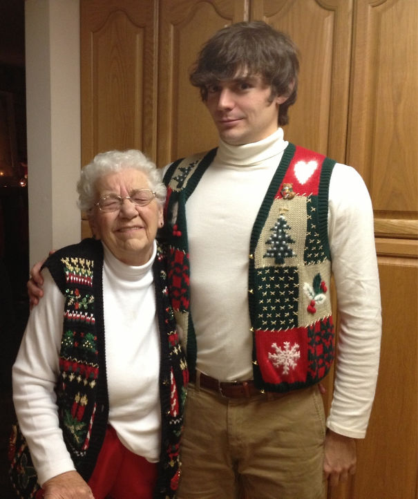 Grandma Showed Up To Christmas Wearing The Same Thing As Me. It Was Awkward