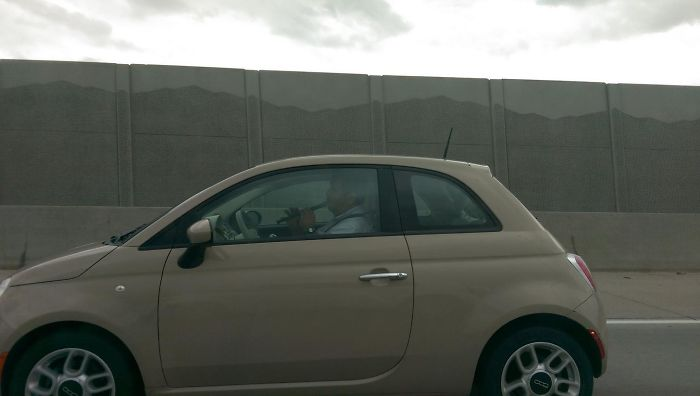 Saw This Guy Playing A Goddammed Recorder While Driving His Fiat On The Highway