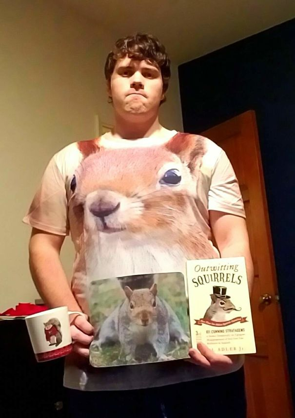 I Mentioned To My Friends That Squirrels Are My Favorite Animal. I Have Received Squirrel Related Gifts Every Christmas Since Then