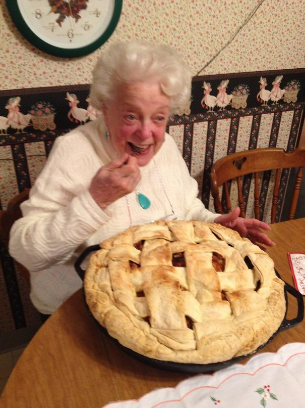 My Grandma Loves Apple Pie. This Was Her Christmas Present