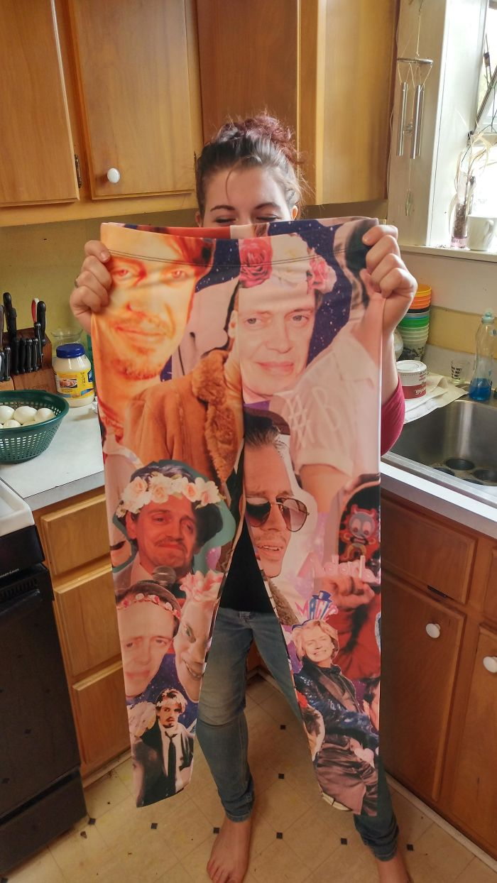 My Sister In Law Got Steve Buscemi Leggings For Christmas