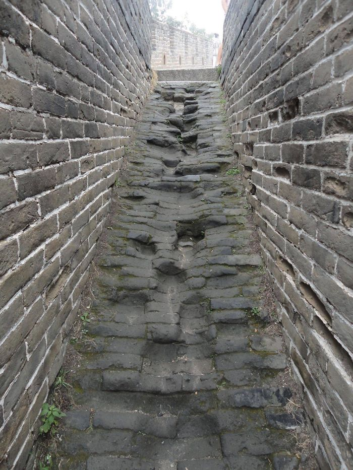 Here Are Some More Worn Steps. Great Wall Of China