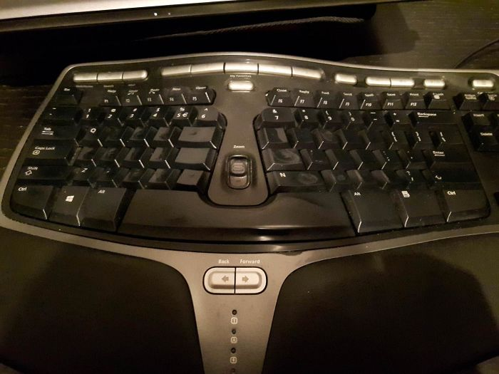 My Gf Is A Transcriptionist. All The Letters On Her Keyboard Are Completely Worn Off