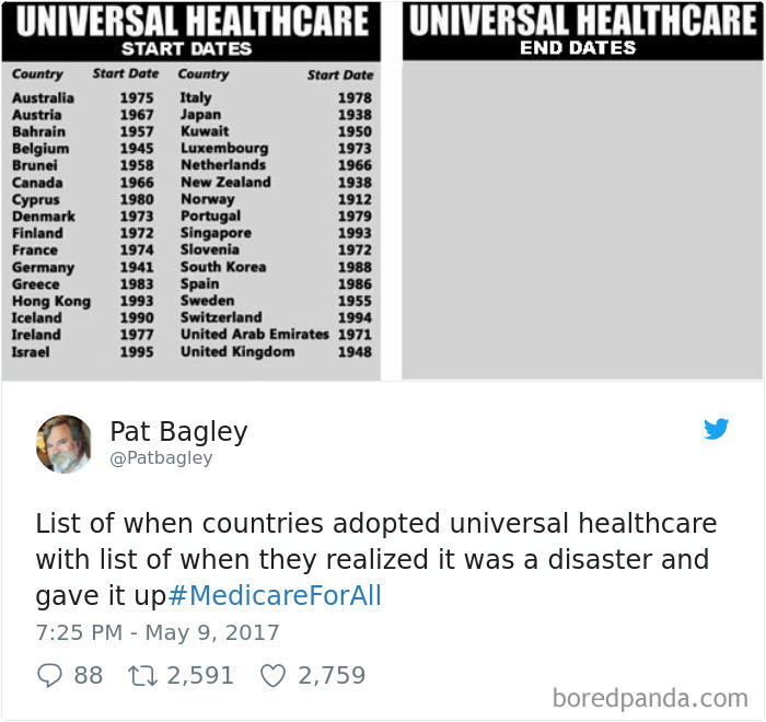 Universal Health Care Disasters