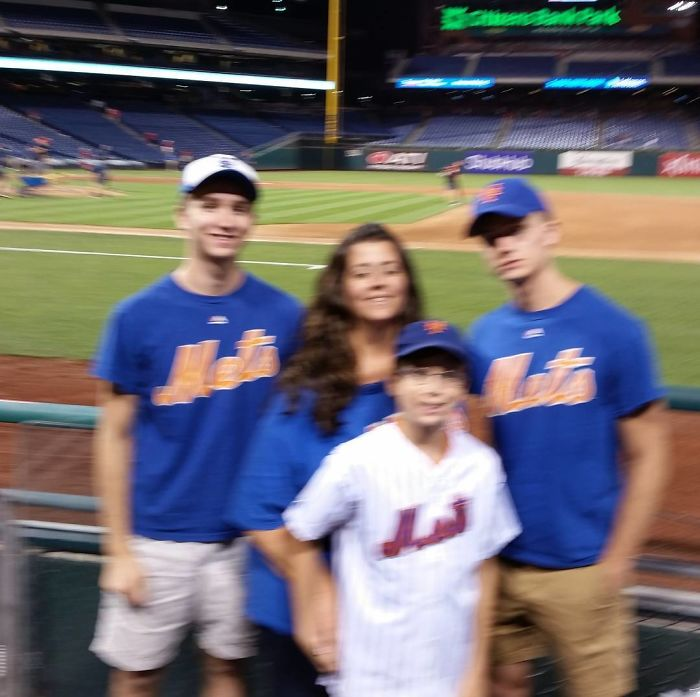 Note To Self: Never Ask A Phillies Fan To Take Your Commemorative Family Photo While Visiting Their Stadium To See The NY Mets Play
