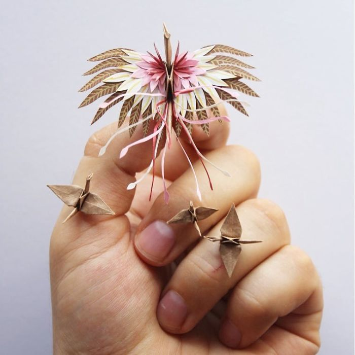I Folded And Decorated An Origami Crane Every Day, For 1000 Days, Искусство оригами