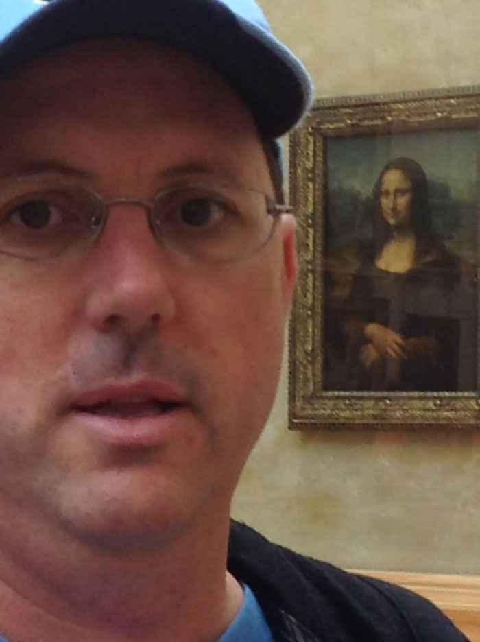 Asked A Stranger To Take A Picture Of Me With The Mona Lisa...