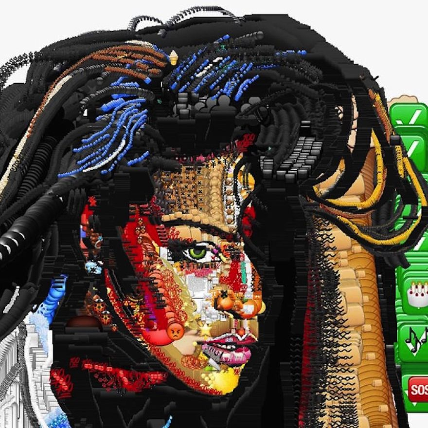 Artist Uses Emoji To Make Portraits Of Celebrities And Pop Culture Characters
