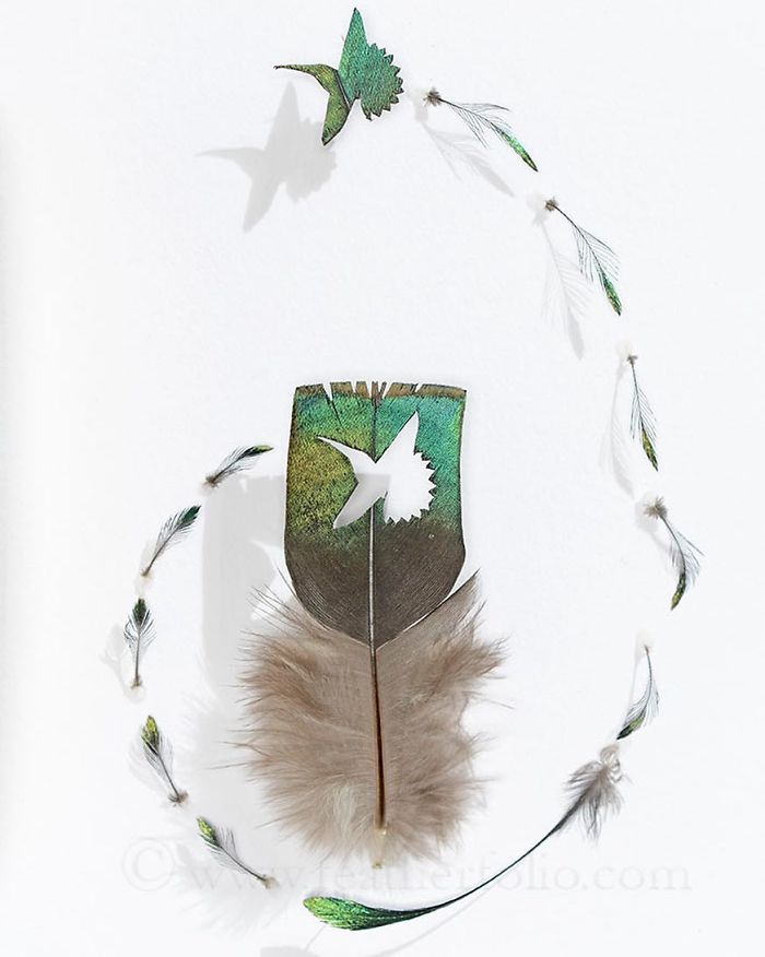 Chris Maynard Carves Feathers Into Intricate Art | Bored Panda