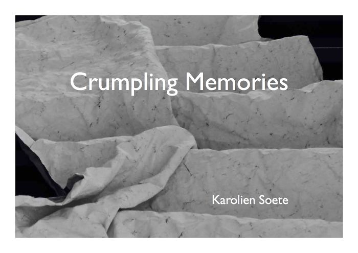 Crumpled Memories: An Investigation Into Visualising Memories.