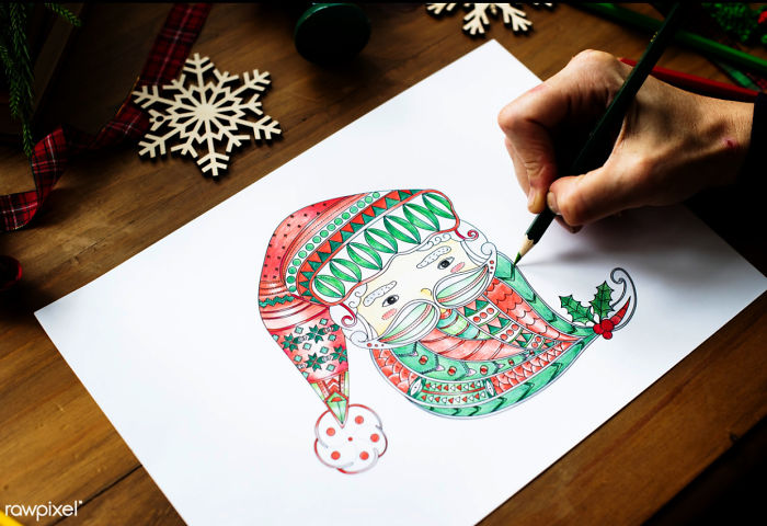 Diy | I Made This Adult Coloring Pages For You. Use It For Your Christmas Cards, Art Projects Or Just About Anything. Have Fun!