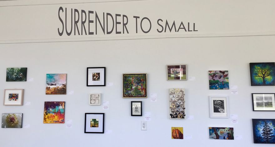 Does Size Really Matter? Surrender To Small Art Exhibit Answers The Question With A Pint-Sized Punch.