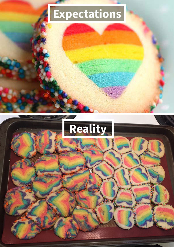 Rainbow Heart Cookies Surprise