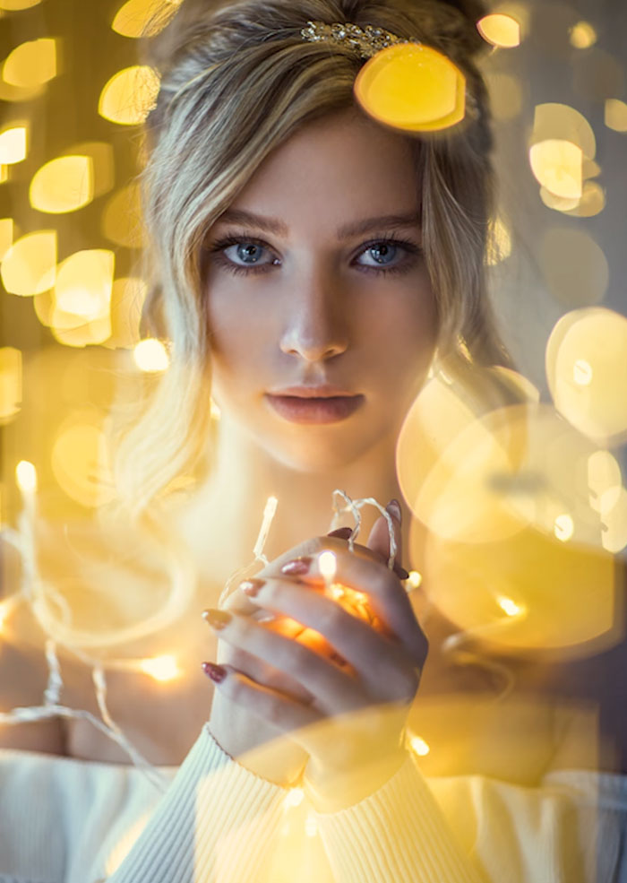 How To Take Amazing Christmas Light Portraits In An Ordinary Bedroom A Aea