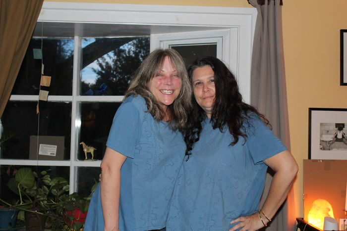 Hadn't Seen My Bff In A Couple Of Years. After An 8 Hour Drive, I Got Out Of The Car As She Walked Out Of The House. In The Same Damn Shirt.