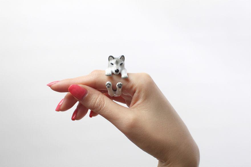 Mary Lou Grey Husky Ring