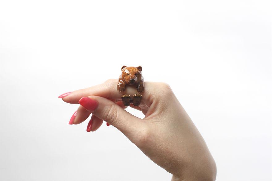 Mary Lou Bear Ring