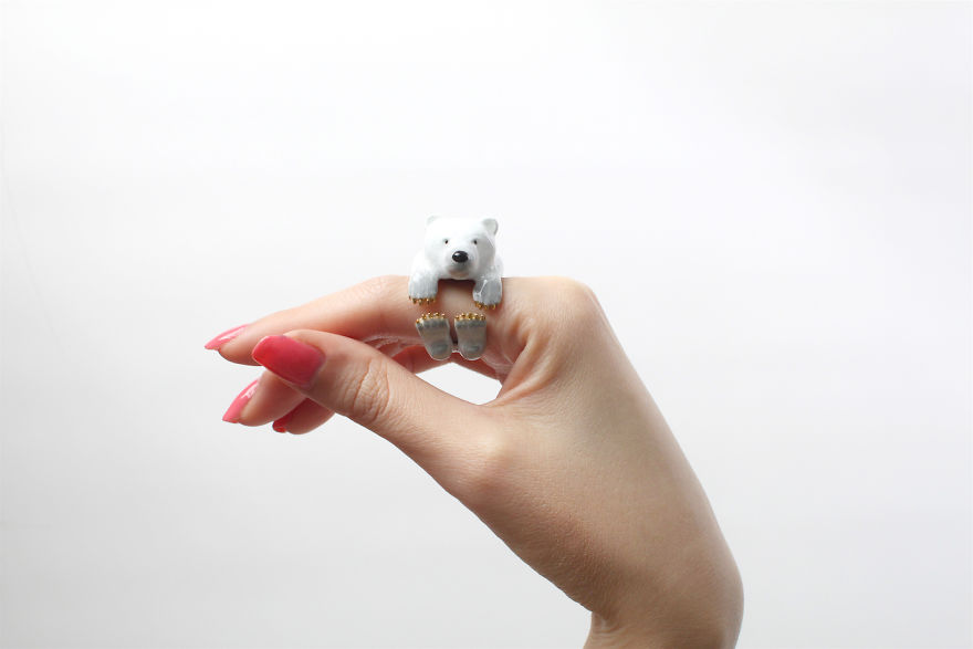 Mary Lou White Bear Ring