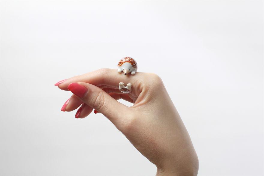 Mary Lou Hedgehog Ring