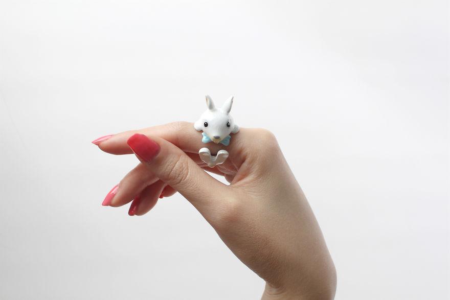 Mary Lou Bow Rabbit Ring
