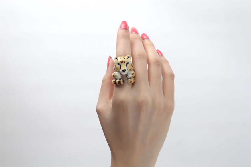 Mary Lou Cheetah Trio Ring