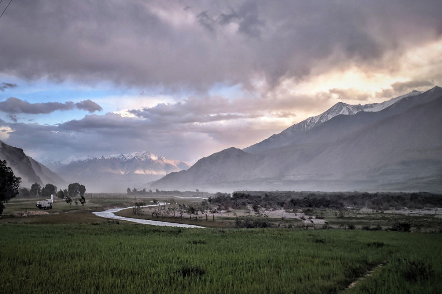 The Wakhan Corridor, Near Ishkashim, In Tajikistan
