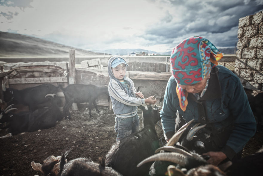 We Spent Our First Night In Mongolia With A Local Family
