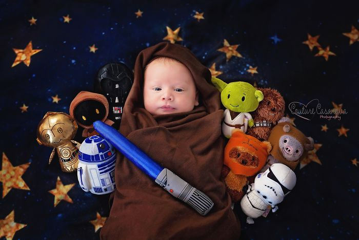 I Shot This Star Wars Themed Newborn Session