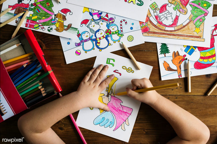 Coloring Pages 2: I Created Christmas Theme Coloring Pages For Kids & Made It Free For Everyone
