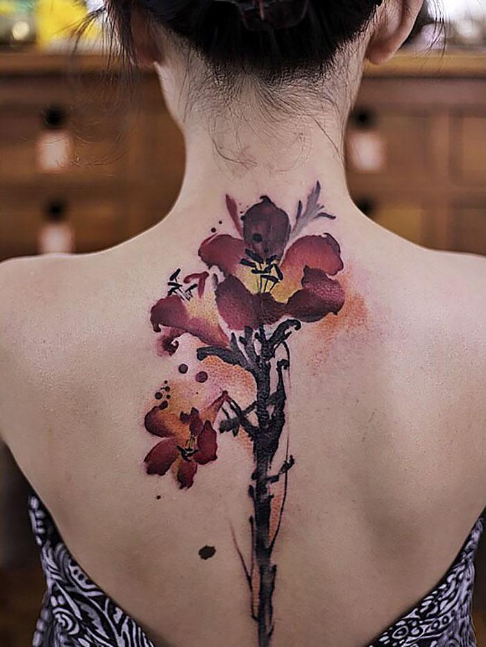 Акварельные татуировки Чэнь Цзе заставят вас сделать одно мгновение