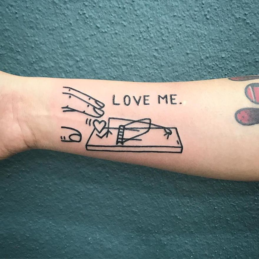 These Irreverent Tattoos From The German Tattoo Artist Will Catch Your Eye