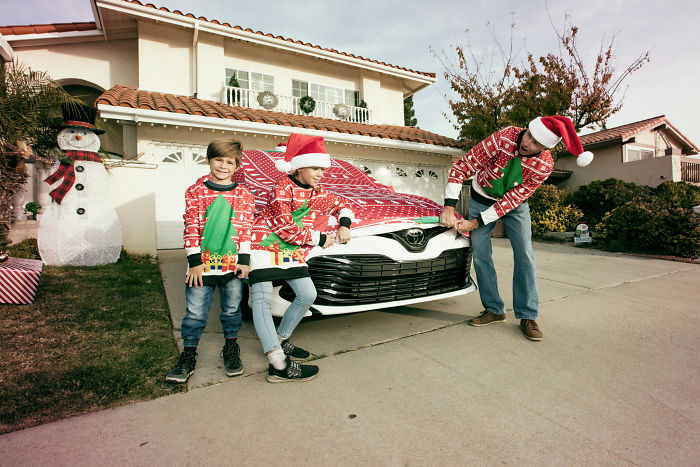 Toyota Creates The World's First Ugly Xmas Sweater For A Car