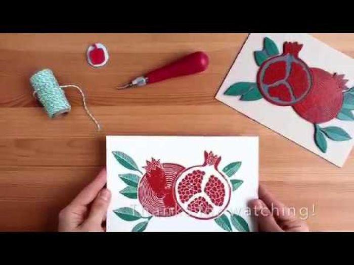 """Betty Pomegranate"" Handprinting By Dogacan Onaran"