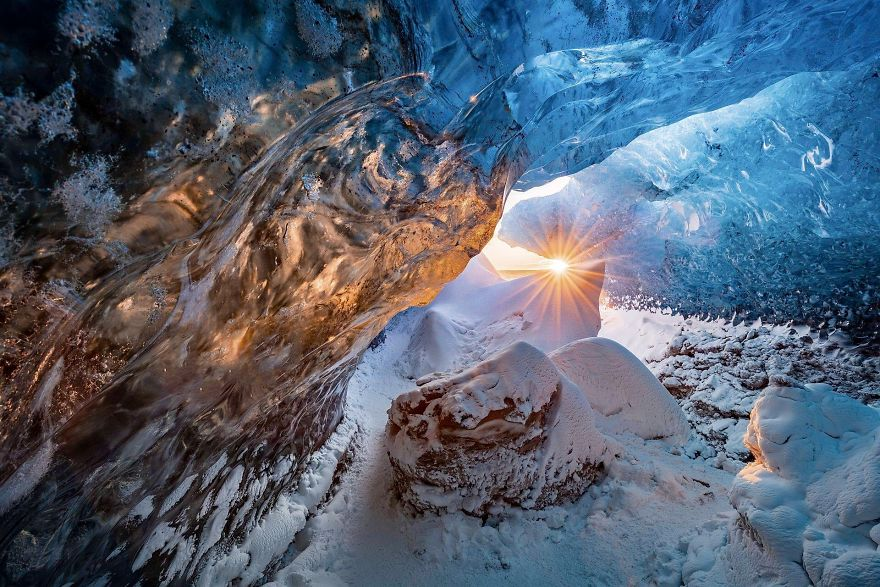 Ice Cave By Markus Van Hauten (Remarkable Award In The Beauty Of The Nature Category)